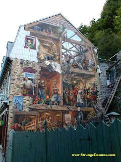 Mural artístico fantástico a la calle