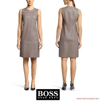 Queen Letizia Style HUGO BOSS Dress and ADOLFO DOMINGUEZ Sandals and MBU BAG