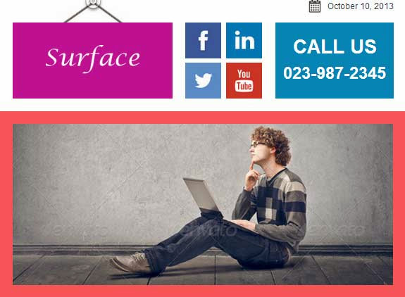 Surface – Colorful Responsive Email Template