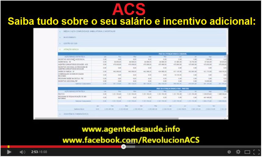 salario+ACS [Vídeo] Como saber quanto o seu município deve pagar de salário e Incentivo aos ACS