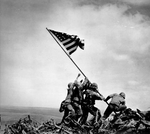 Putting Up the Flag at Iwo Jima
