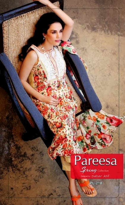 Pareesa Sleeveless Lawn 2014
