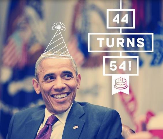 Freedom Eden Obama 54 Birthday Card