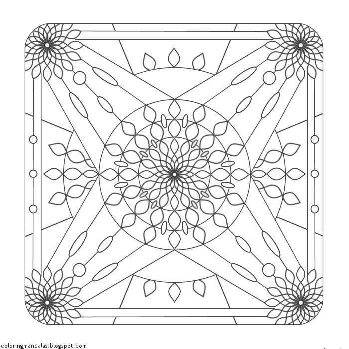 Coloring Mandalas 11 Temple of the Sun