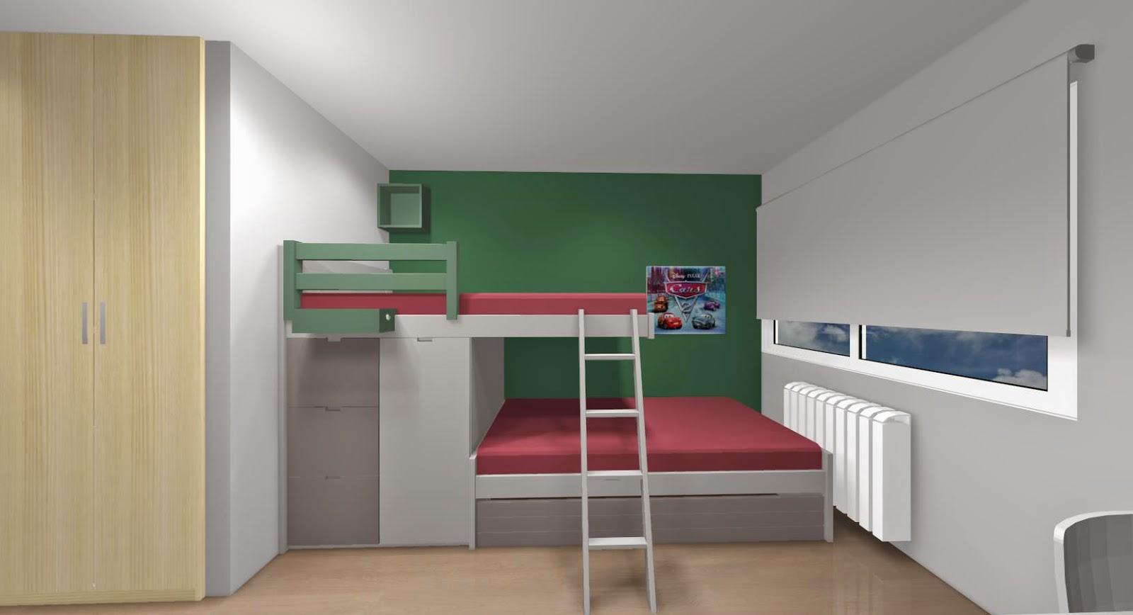 5 premisas para amueblar los dormitorios juveniles - Habitaciones juveniles 2 camas ...