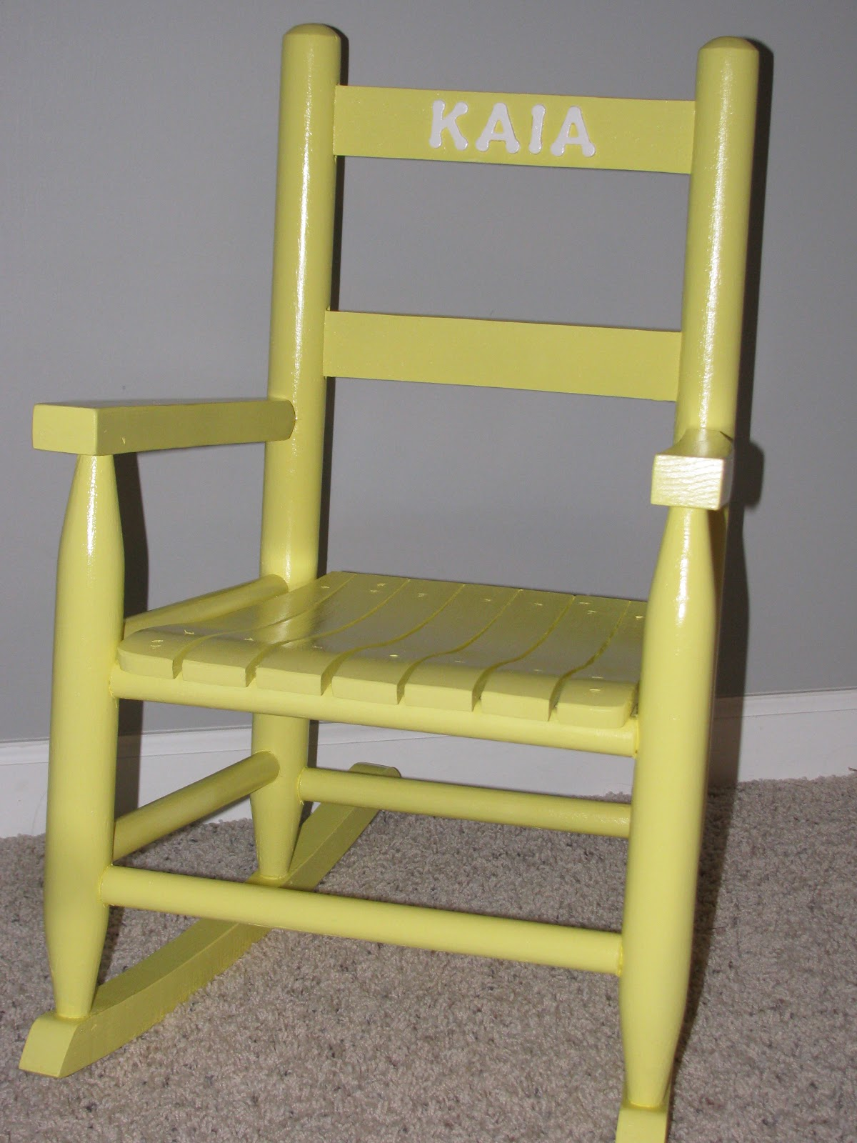 Custom Personalized Toddler Rocking Chairs