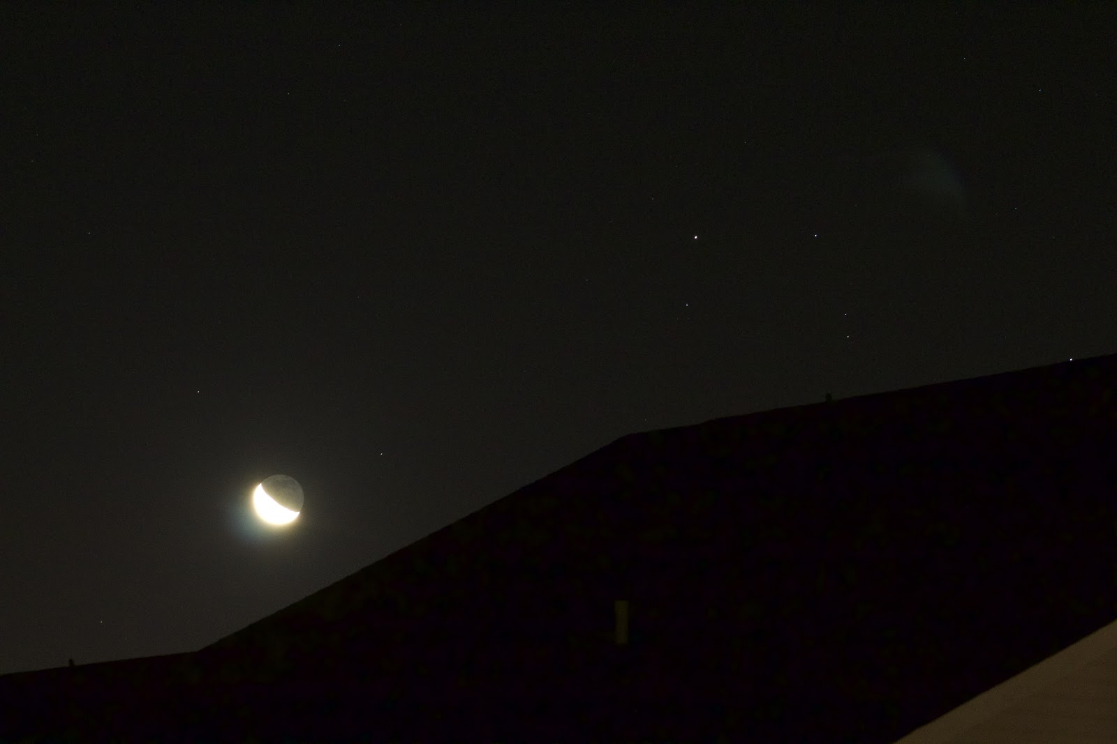 crescent moon with scorpio