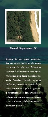 Clique para ver o ponto misterioso na praia de Taquarinhas