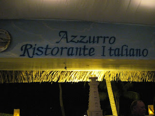 Azzurro's at night