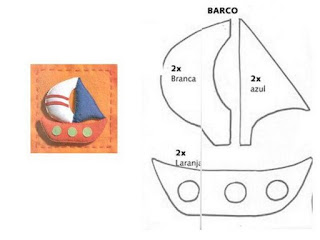 Moldes de barcos para E.V.A