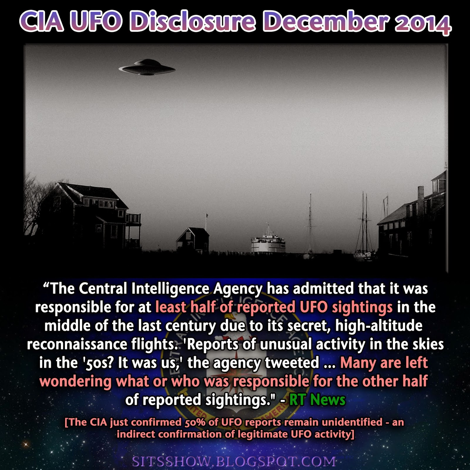 CIA UFO Disclosure | 'It was us': CIA 'fesses up on UFO sightings in 1950-60s: Released December 2014