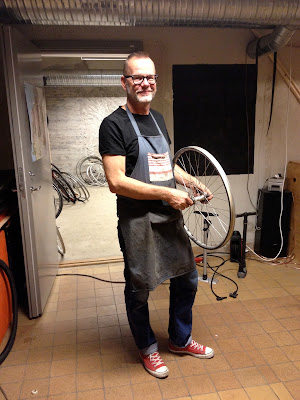 Bert, an expert bike mechanic at the cycle kitchen