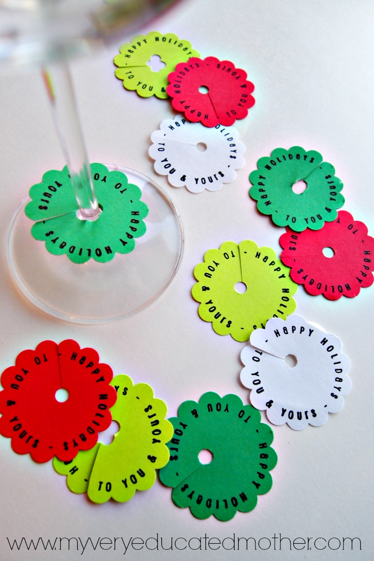 DIY Stamped Wine Tags