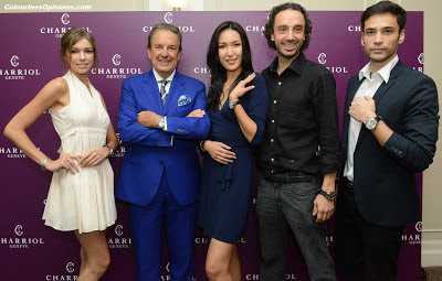 Philippe Charriol & Alexandre Charriol with models in Charriol 30th Anniversary regional launch in Singapore