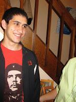 Sunil Tripathi wearing a popular Che Guevara tshirt.