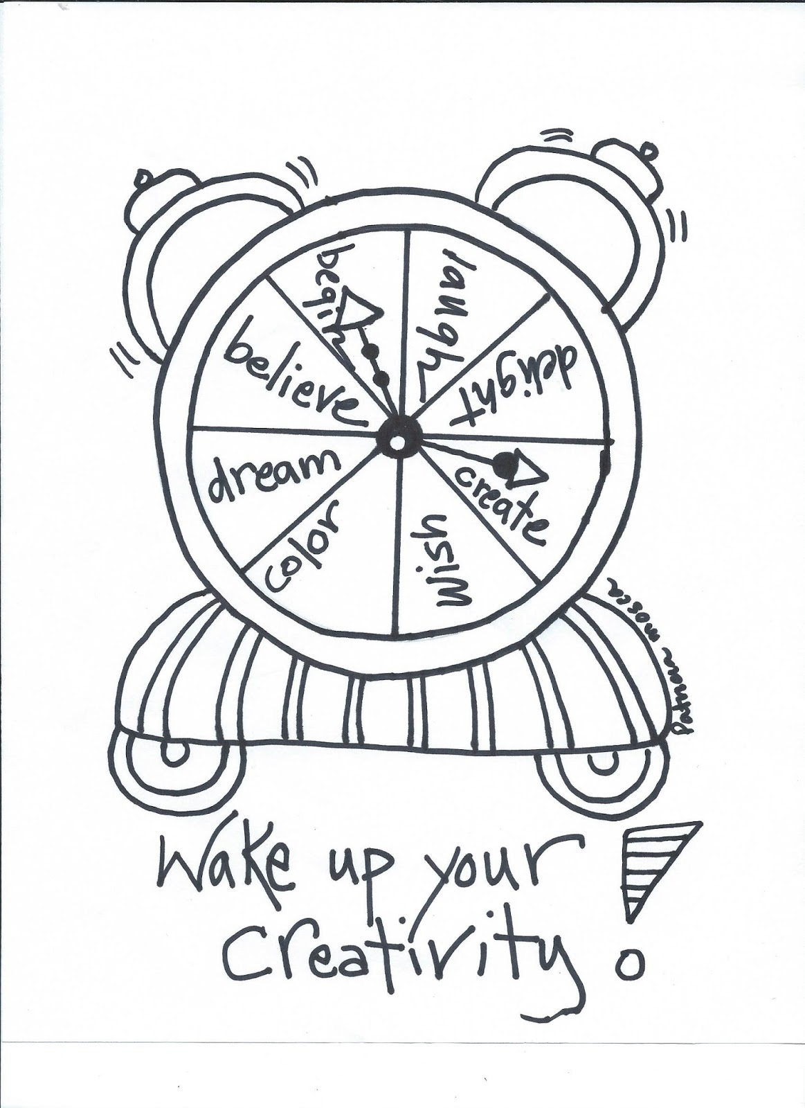 The Creative Playground: wake up...coloring book page