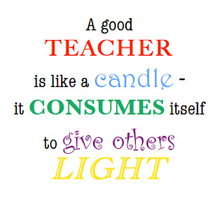 Random Thoughts of a Mom: Teacher Candle Thank You
