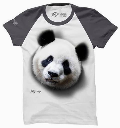 kaos 3d panda
