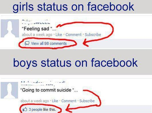 boys guys status on facebook fb