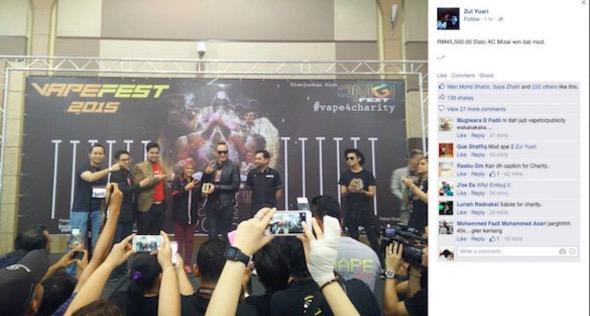 Dato AC Mizal pecah rekod Mod vape dengan nilai RM45 ribu