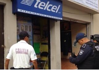 Asaltan local distribuidor de Telcel en el Centro de Veracruz