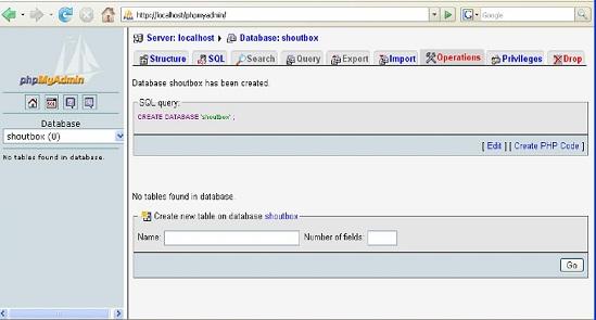 php myadmin di mysql server