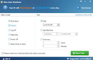 Wise Auto Shutdown screen shot
