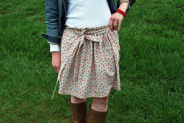 body gifts: flower garden gathered skirt tutorial