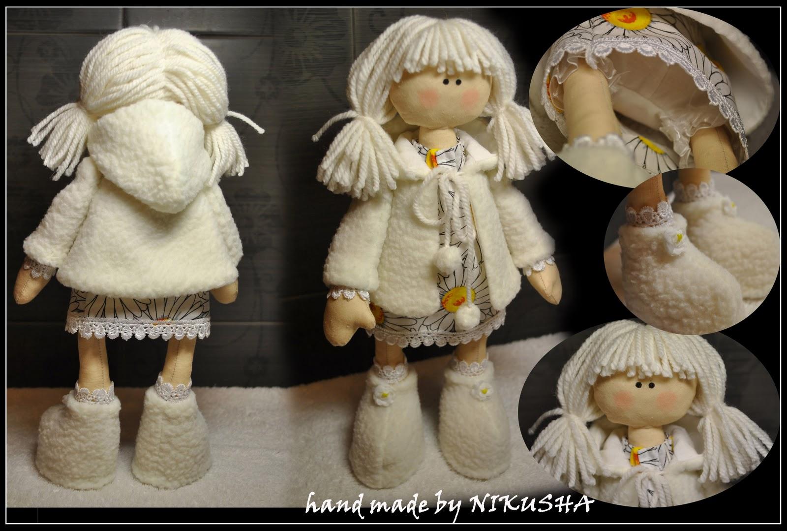 Куклы своими руками из ткани фото снежки