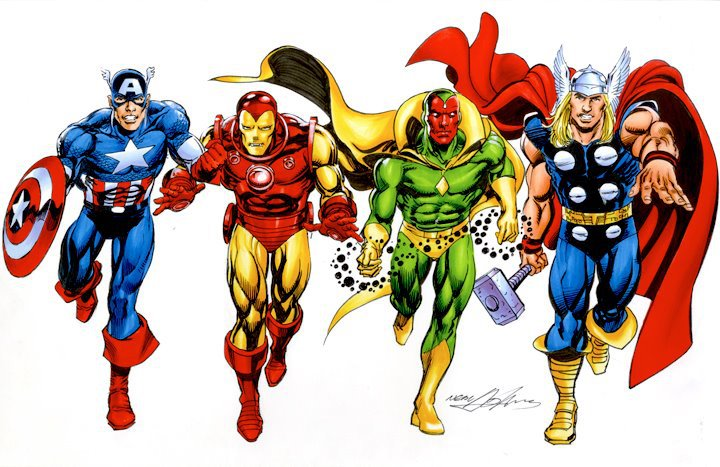 Avengers Cartoon Characters Various avengers animated