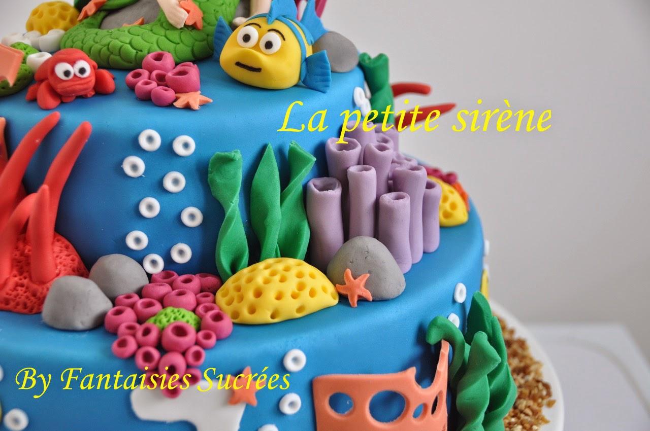 Fantaisies sucr es g teau anniversaire 3d disney la petite sir ne birthday cake - Gateau anniversaire disney ...