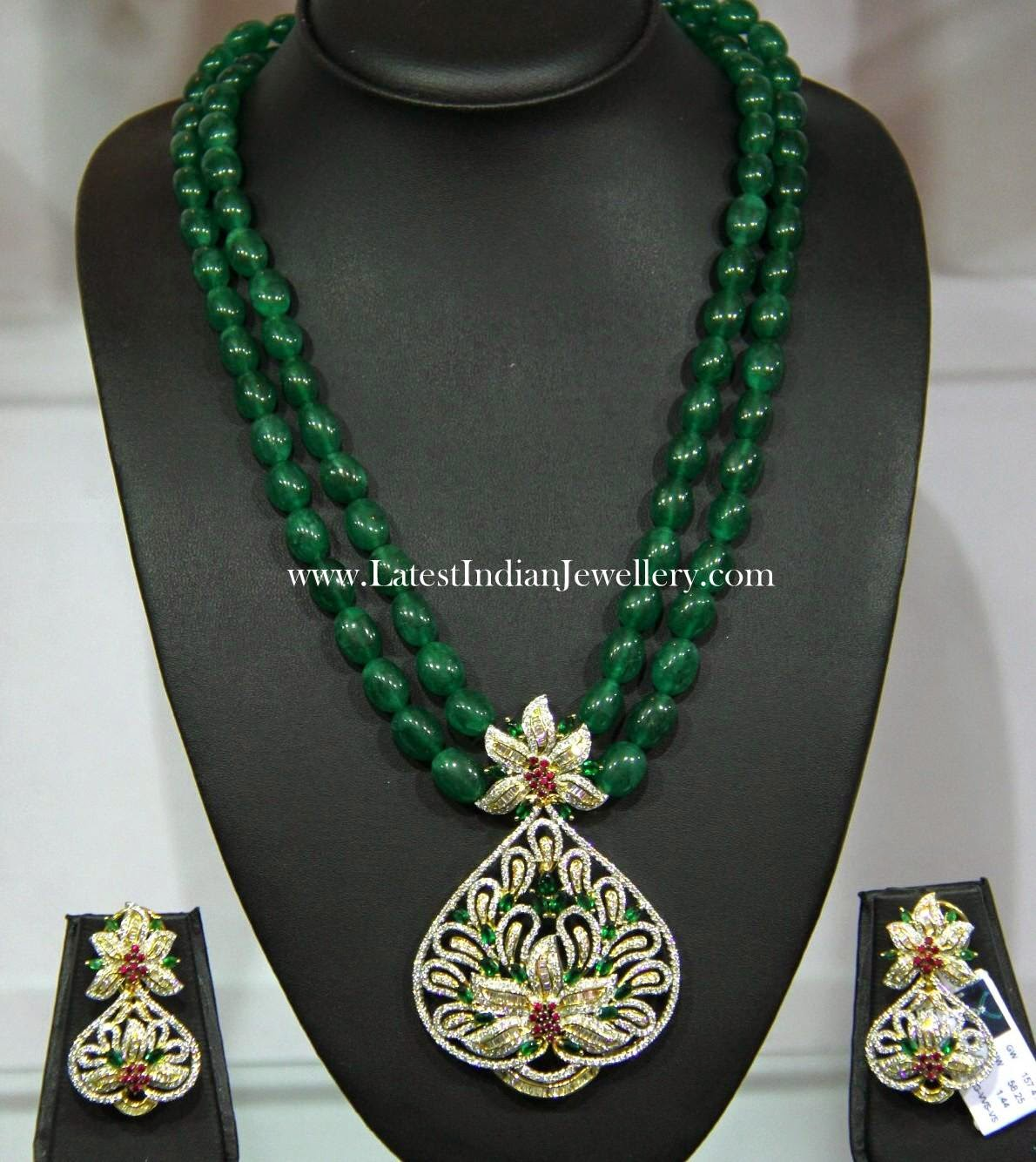 Emerald Beads Fancy Set