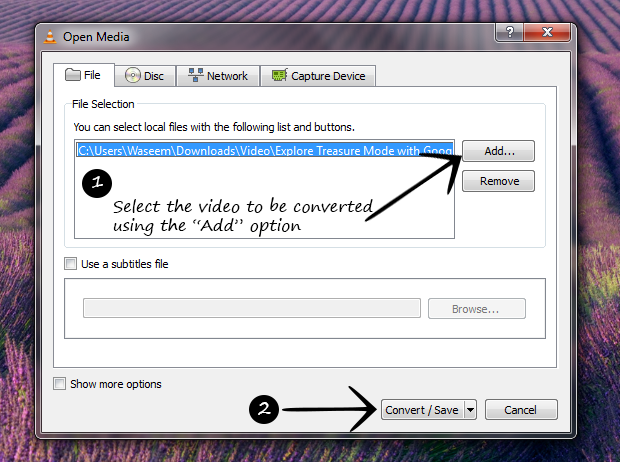 Convert Videos With VLC Player