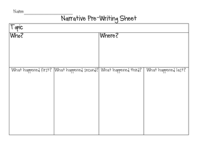graphic organizers narrative writing