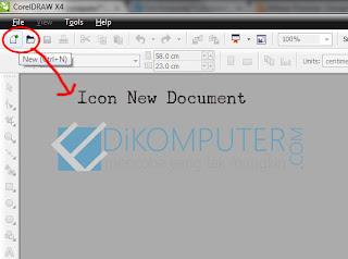 Cara membuat dokumen baru di corelDraw