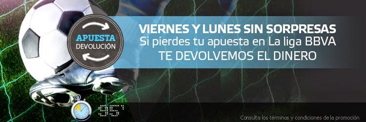 Suertia Devolución 50€ Eibar vs Espanyol – 8 mayo