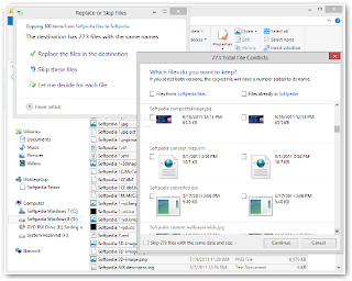 windows 8 replace or skip files
