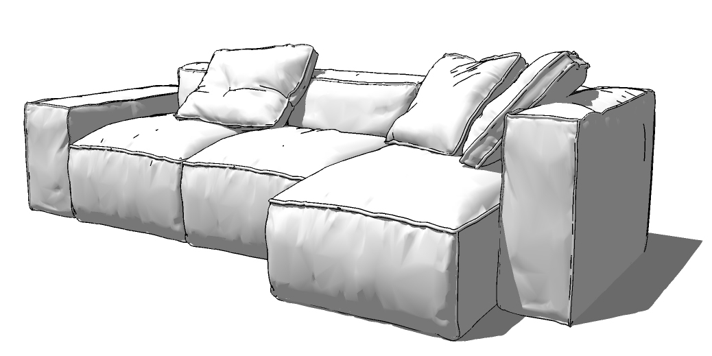 Sketchup texture sketchup 3d model home furniture sofa for Sofa 3d model