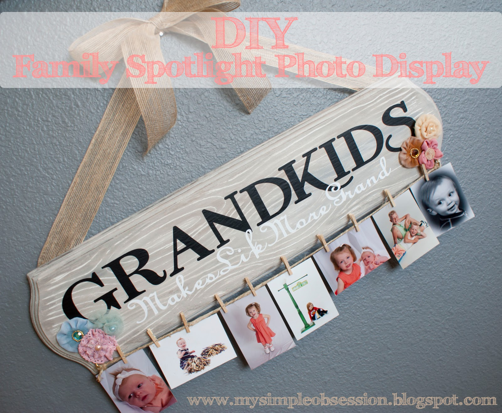 Grandkids Board – an adorable Picture board for Grandparents!! I ...