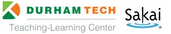Durham Tech Teaching-Learning Center and Sakai logs