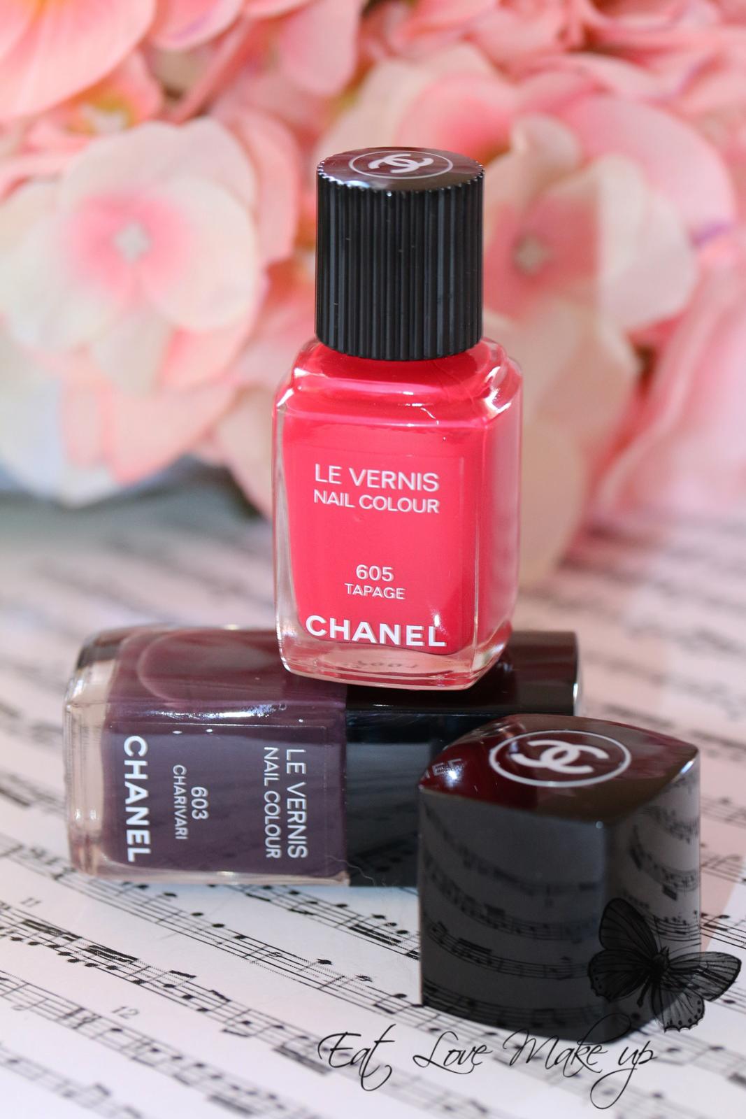 Chanel Le Vernis Nail Colour 603 Charivari & 605 Tapage