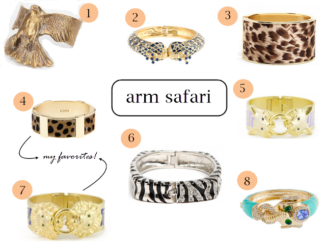 arm safari, safari bracelets, animal bracelets