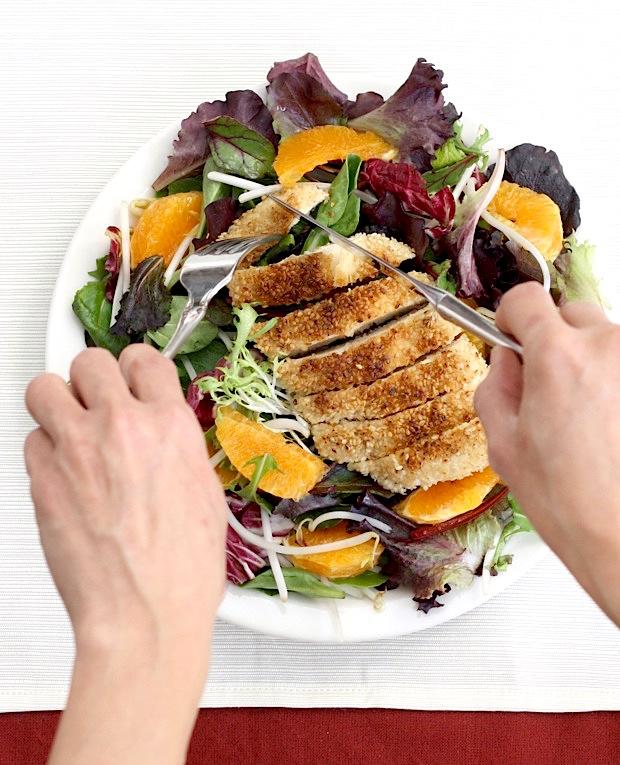 Sesame Chicken Tangerine Salad by SeasonWithSpice.com