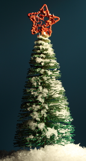 Photo d'un sapin de Noël.