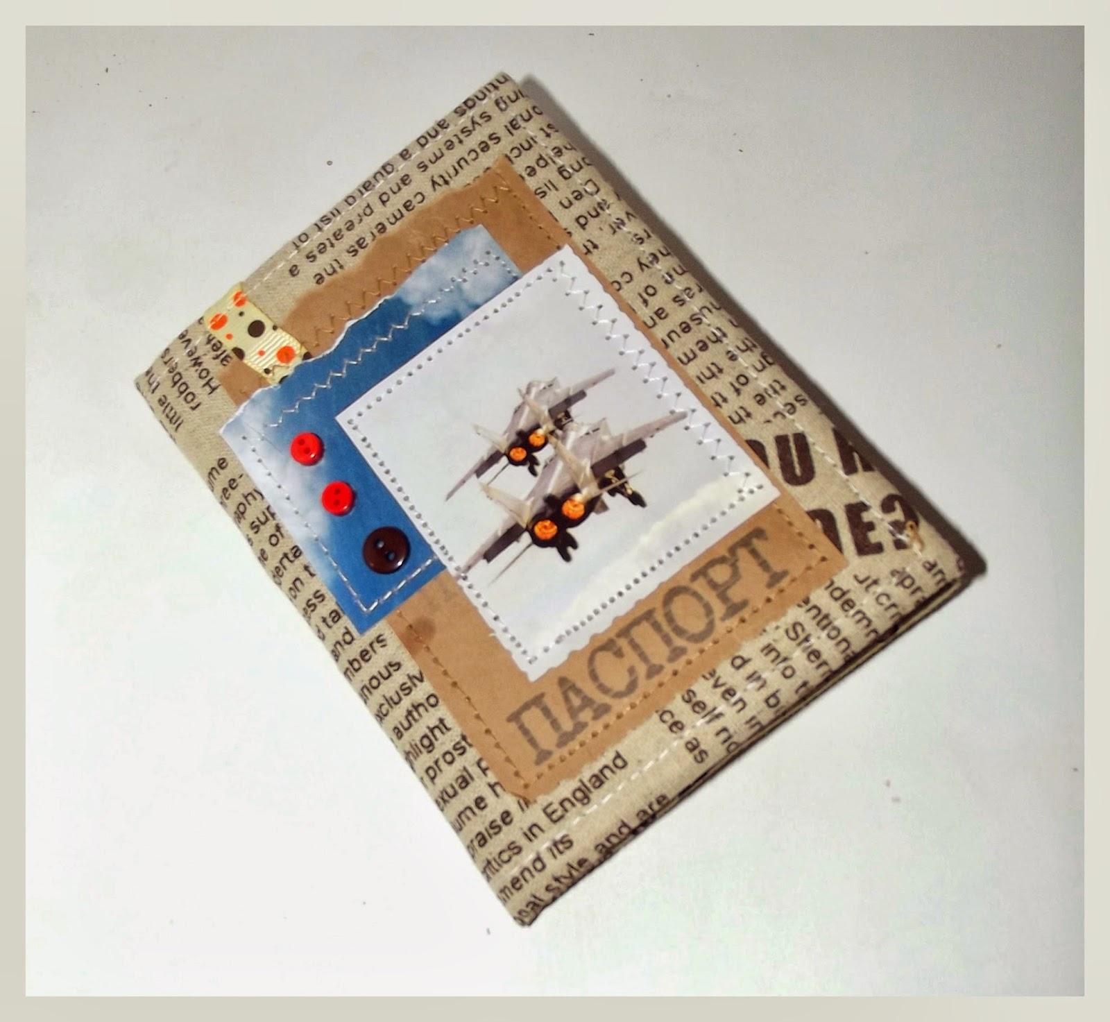тканевая обложка для паспорта