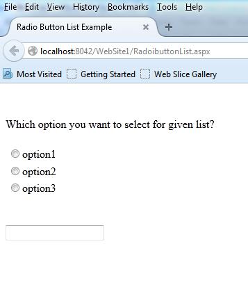 Asp.net Radiobutton control