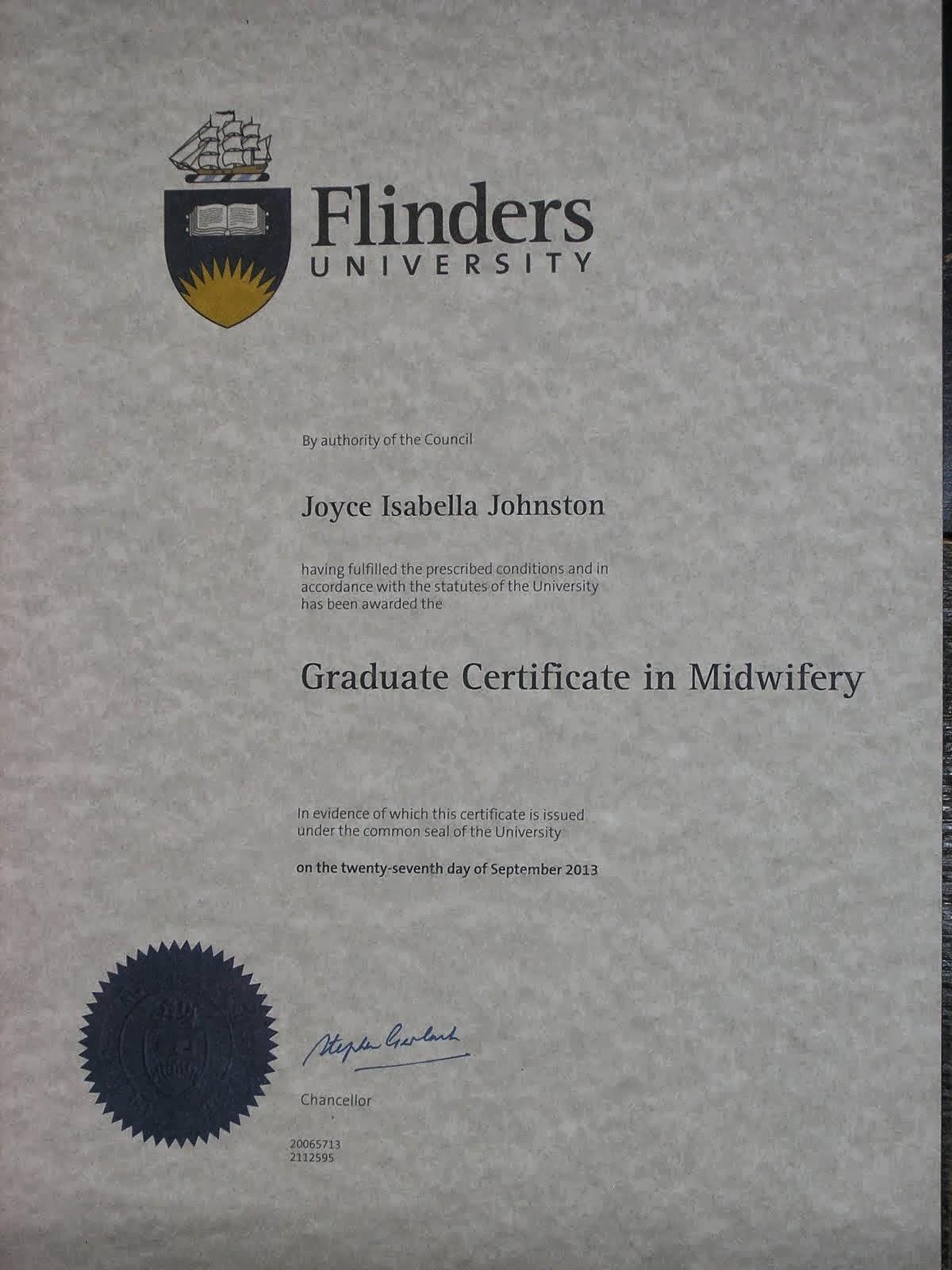Graduate Certificate in Midwifery
