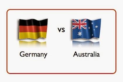 التشكيلة الرسمية لمبارة المانيا و استراليا  مباراة وديه