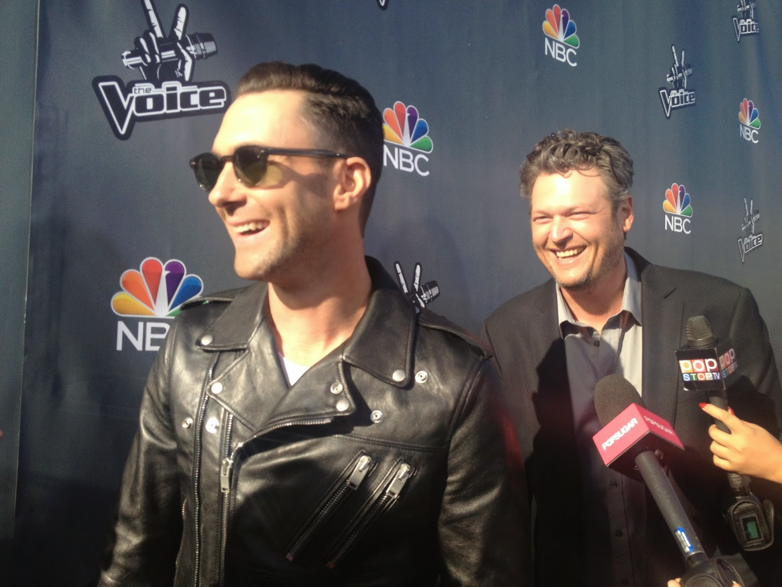 Adam Levine and Blake Shelron on The Voice Red Carpet