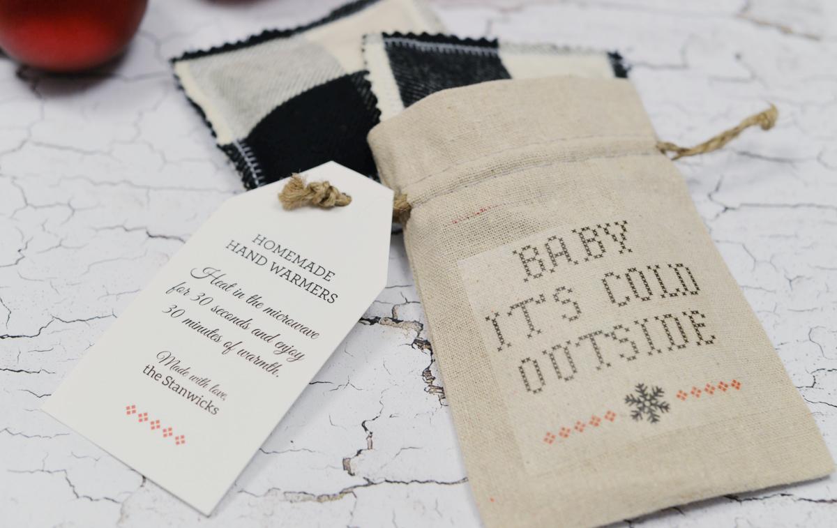 Holiday Gift Idea: DIY Hand Warmers and Gift Bag - Rambling Renovators